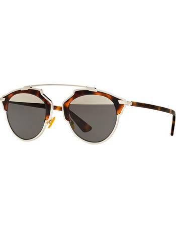 3c363364325a Cd Diorsoreal 48 Gold Oval Sunglasses from Sunglass Hut Uk