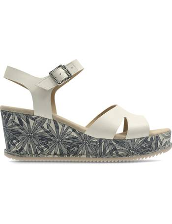 8d28cdc9b42c2 Clarks. Akilah Eden Leather Wedge Sandals. from La Redoute
