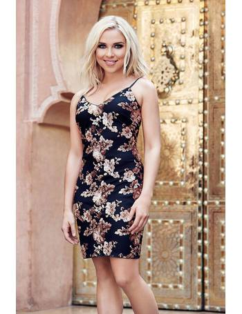 9e73c9a8 Gabby's Black and Gold Strap Sequin Bodycon Dress from Quiz Clothing