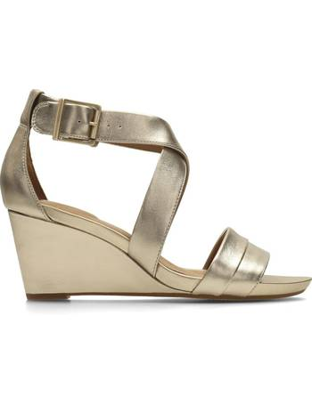 c898e537bedae Clarks. Acina Newport Leather Wedge Sandals. from La Redoute