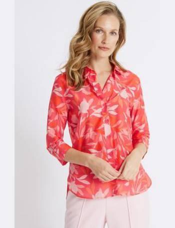 M/&S CLASSIC Women/'s Cotton /& Silk Blend Floral Print Shirt NEW!!