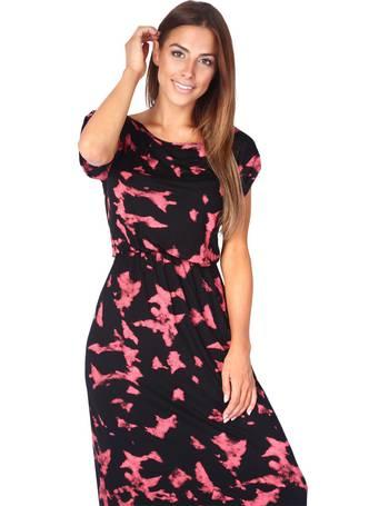 fac85600151546 Krisp. Tie Dye Jersey Maxi Dress ...