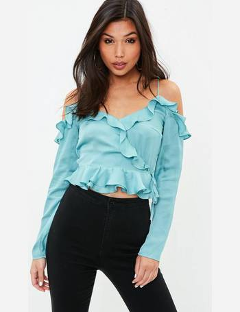 bac3085230be9 Dobby Satin Jacquard Crop Top from Missguided
