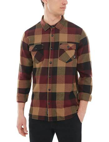 049aa11f9dbd9d Box Flannel Shirt (port Royale dirt) Men Red from Vans