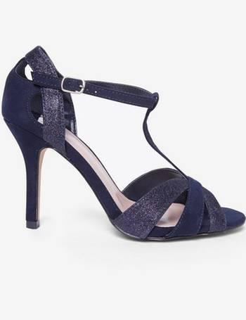 98b07d3cbb84 Womens Wide Fit Navy  Brooklyn  T-Bar Sandals- Blue from Dorothy Perkins