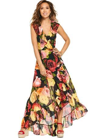 25185ef2a73c Myleene Klass. Sleeveless Ruffle High Low Maxi Dress