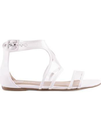 d0b6b1d865a Perspex Strap Flat White Sandals from KOI Footwear