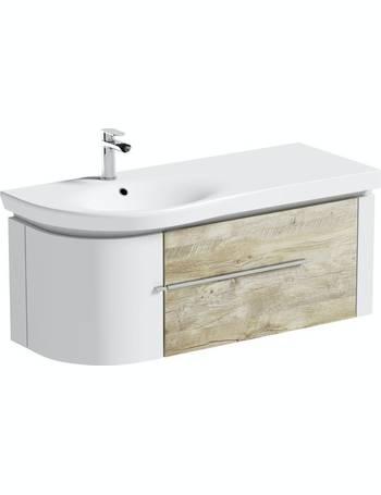 Mode Wall Hung Basins Dealdoodle, Mode Burton White Wall Hung Vanity Unit And Basin 600mm