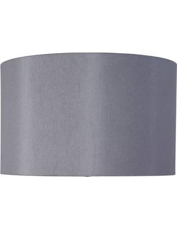 40cm Steel Grey Polysilk Bowed Shade