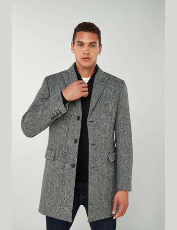 fa3419991480 Grey Harris Tweed Signature Epsom Coat from Next