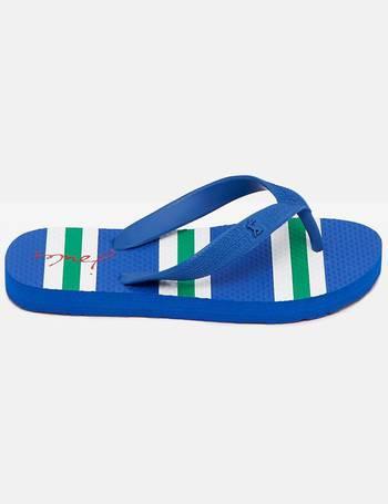 7108ab0266fcd Blue Stripe 124793 Boys Flip Flop from Joules