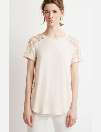 b9b1d9df918577 Shop Women's Forever 21 Lace T-shirts up to 70% Off | DealDoodle