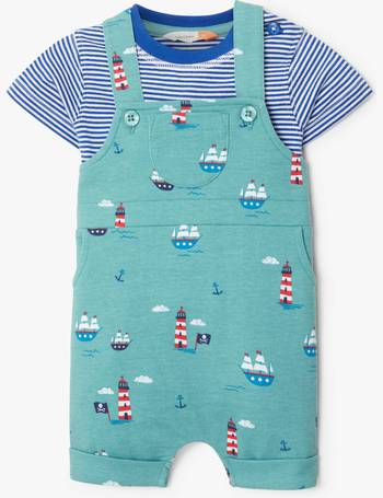 0695b0479 Baby Nautical Print Dungaree and T-Shirt Set from John Lewis. Quick View