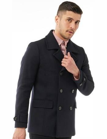 Ted Baker Pea Coats For Men Up To, Ted Baker Ossain Herringbone Peacoat