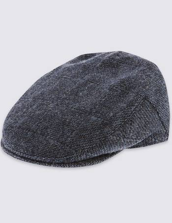 7ee28ca69d3 Pure Wool Thinsulate Flat Cap with Stormwear from Marks   Spencer