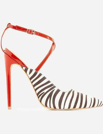 9f1a8a78b7a Ego Shoes. Nori Zebra Print Faux Suede Heel. from Ego Shoes. £9.99. Bello  Perspex Lace Up Block ...