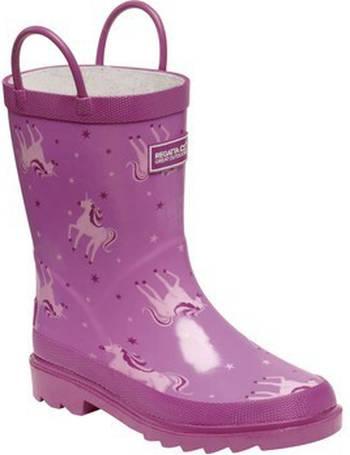 Regatta Kids/' Mudplay Dinosaur Wellingtons Pink