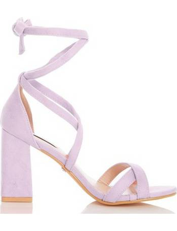 c41ce37eb6 Womens Quiz Lilac Block Heel Sandals- Lilac from Dorothy Perkins