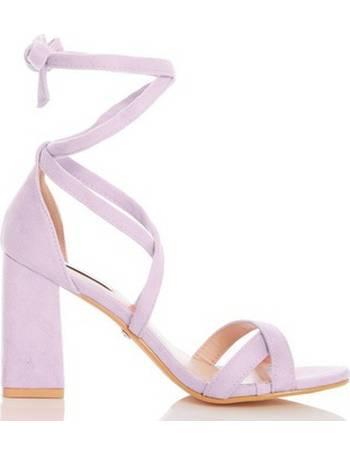 5b4ce2fa00f Womens Quiz Lilac Block Heel Sandals- Lilac from Dorothy Perkins
