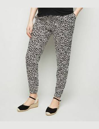 813fc4c8a17f Maternity Black Animal Print Joggers New Look from New Look