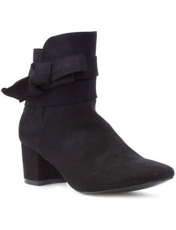 3376fdb8661 Comfort Plus. Womens Black Low Block Ankle Boot