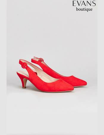 d58626b4c38 Red Extra Wide Fit Slingback Kitten Court from Next
