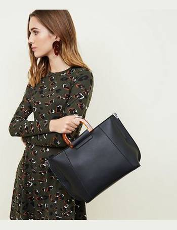 ebf5f3902d Black Resin Handle Tote Bag New Look from New Look