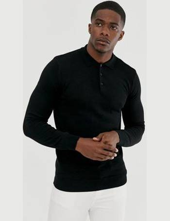 Mens Long Sleeve Polo Shirt by Brave Soul /'Hatter/' Casual Collared Top S-XL