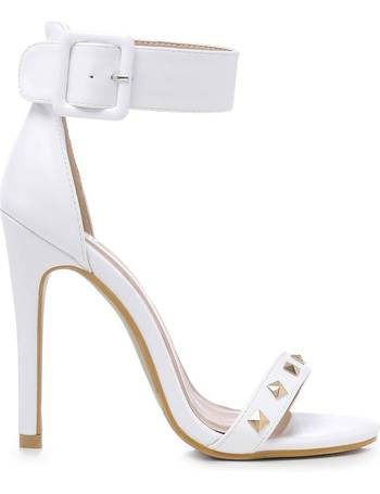 34714000b2c White Wide Strap and Studded Stiletto Heels from KOI Footwear