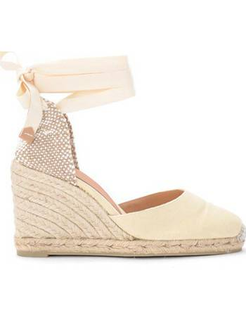 0f824cf1491 Carina ivory canvas and fabric wedge sandal