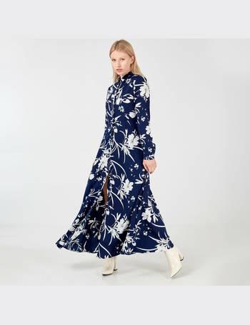 b86a1c8d6 LIVIA - Long Sleeve Floral Print Navy Maxi Dress from Blue Vanilla