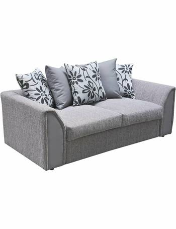 Phenomenal Dallas Compact 3 Seater Fabric Sofa Charcoal Download Free Architecture Designs Terstmadebymaigaardcom