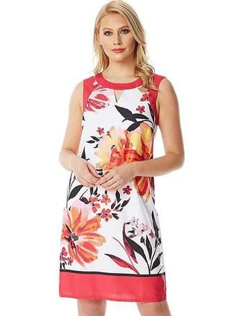 63c5cd2cc3b Roman Floral Border Shift Dress