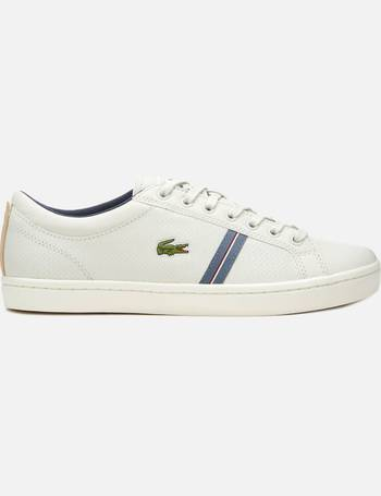 741b7e3fab8 Lacoste. Men s Straightset Sport 318 1 Leather Trainers