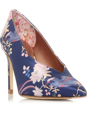 8f5beaafbee4f9 Ted Baker. Jazimn Mid Heel Floral Print Court Shoes. from House Of Fraser