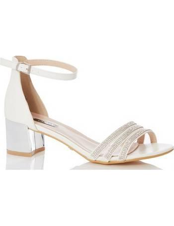0ab4b03a4 Womens Quiz Bridal Diamante Strap Heeled Sandals- White from Dorothy Perkins