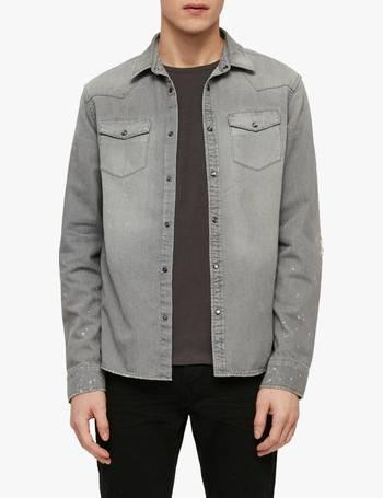 70619d4949 Shop Men s Allsaints Shirts up to 60% Off