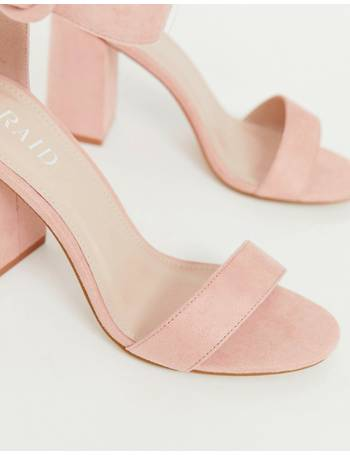 2a7e91cd1c9 Raid Wide Fit. Genna blush block heeled sandals. from ASOS