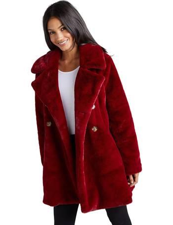 Debenhams Women S Faux Fur Coats, Red Faux Fur Coat Uk