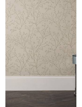 Paste The Wall Metallic Sprig Wallpaper from Next