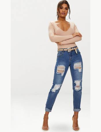 discount shop special promotion check out Shop Women's Ripped Mom Jeans up to 75% Off | DealDoodle