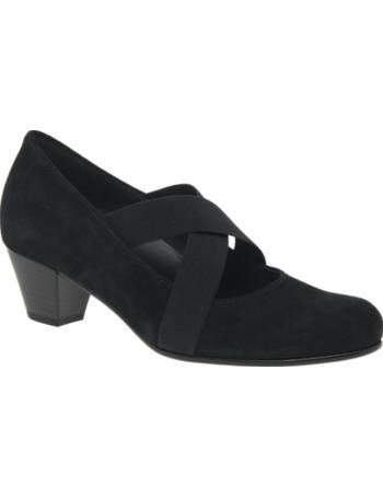 c1e3cbf83e8 Gabor. Marley Extra Wide Fit Block Heeled Court Shoes