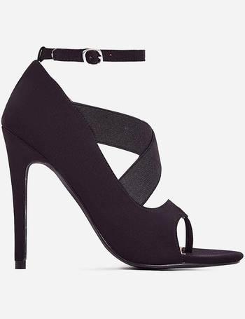 9fc79c51f2e Yara Caged Elasticated Peep Toe Heel from Ego Shoes
