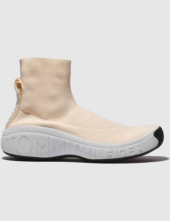 096c1e427acd90 Tommy Hilfiger. Pale Pink Tj Knit Sock Sneaker Trainers. from Schuh