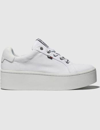 b2ad3f253c727c Tommy Hilfiger. White Tj Flatform Sneaker Trainers. from Schuh