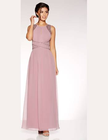 288558cbe28d23 Mauve Chiffon Embellished Maxi Dress from Quiz Clothing