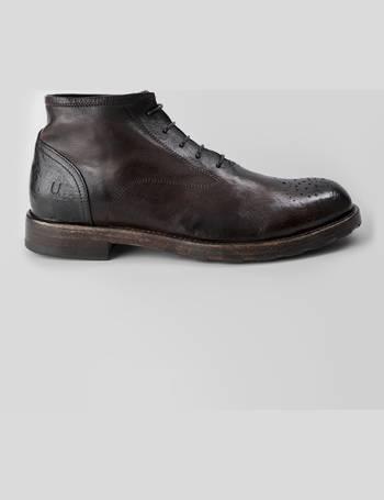 SLOANE cigar brown chukka boots. in