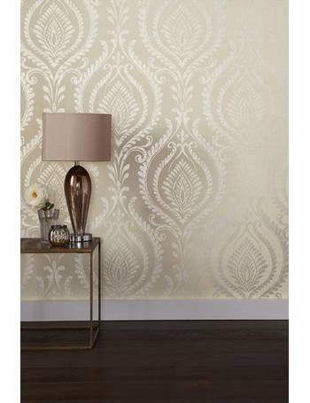 Paste The Wall Damask Wallpaper from Next