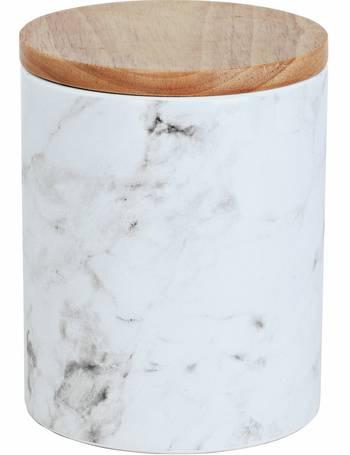 Black Argos Home Set of 3 Textured Storage Jars