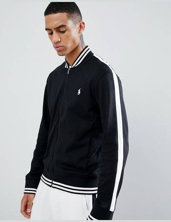 4e5c80c337b Polo Ralph Lauren. player logo bomber sweat jacket tipped side taping in  black